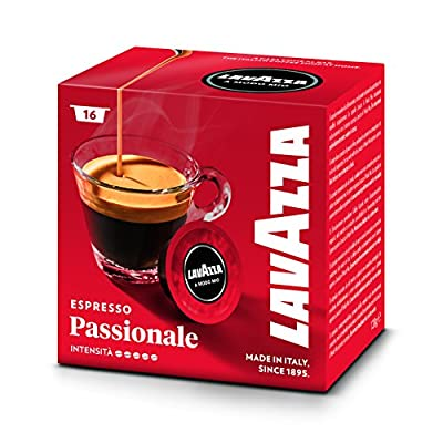 Lavazza A Modo Mio Passionale 16 Coffee Capsules (Pack of 5)
