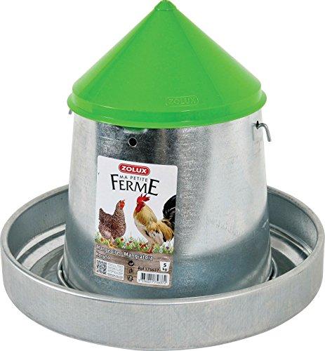 Zolux Futtertrog verzinkt Silo mit Deckel für Zucht/Landwirtschaft Städtische 5kg