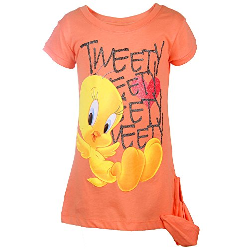 filles-looney-tunes-shirt-orange-taille-104-4-ans