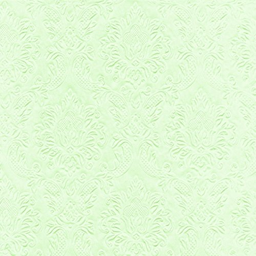 Dinner Prägeservietten Moments - Ornament mint grün 40 x 40cm