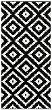 Tapiso LÄUFER BRÜCKE Flur Teppich - Muster Karo MODERN IN SCHWARZ WEIß 100 x 150 cm