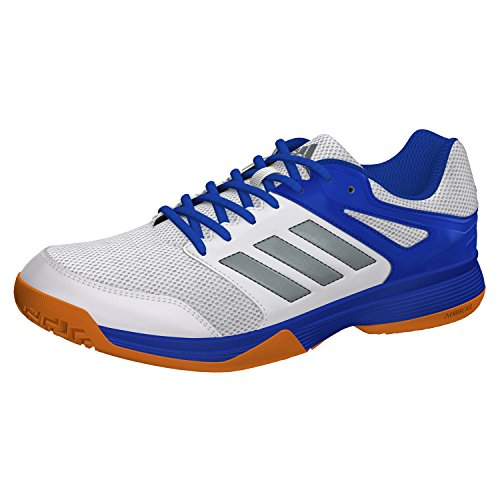 adidas Herren Speedcourt M Turnschuhe, Mehrfarbig (Ftwbla / Nocmét / Blau), 42 EU