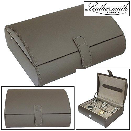 97114584b8f Leathersmith of London® LIMITED EDITION Genuine Mink Bonded Leather 10  Watch Storage Case Organiser Box