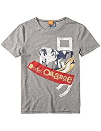 BOSS Orange T SHIRT TIMUR 1 FARBE GRAU 051 GR: S