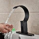 Tougmoo olio strofinato bronzo cascata mani sensore touch rubinetti miscelatore in ottone bagno hotel a induzione elettrica rubinetti Brass