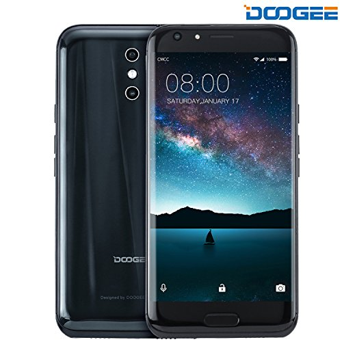 Telephone Portable Debloqué, DOOGEE BL5000 Smartphone 4G Pas Cher (Écran: 5,5 Pouces FHD IPS - 64Go - 4Go de RAM - 8MP + 13MP Caméras - MT6750 Octa Core - Android 7.0 - Double SIM - Grand Batterie 5050mAh) Noir