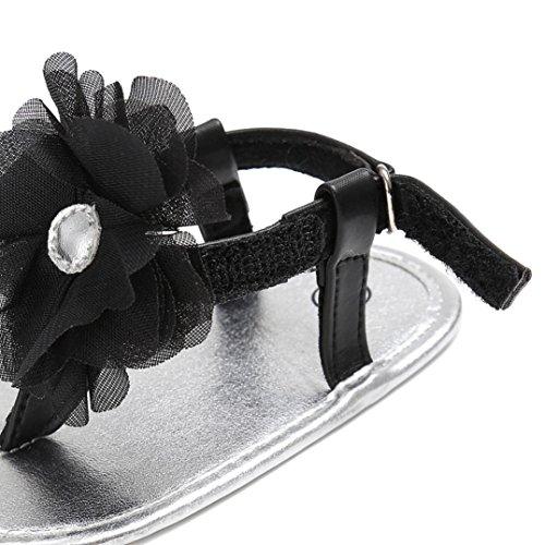 Clode® Baby Girls sandales tout-petits enfants Chaussures sandales tout-petits (12 ~ 18mois, Blanc) Noir