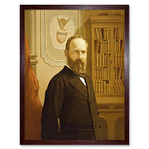 Wee Blue Coo LTD Paintings Portrait President James Garfield USA Assassinated Art Print Framed Poster Wall Decor Kunstdruck Poster Wand-Dekor-12X16 Zoll