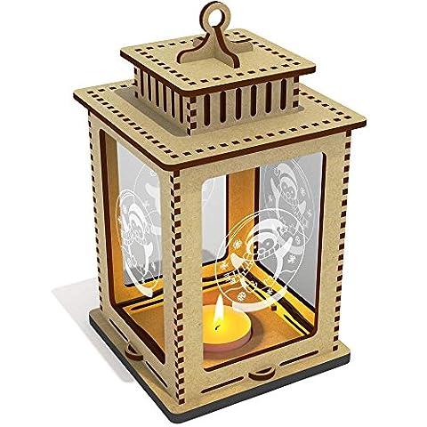 'Penguin Snow Globe' Clear Candle Lantern / Tea Light Holder