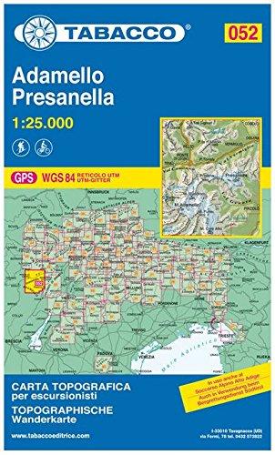 Adamello, Presanella 1:25.000 (Carte topografiche per escursionisti) por Tabacco Casa Editrice
