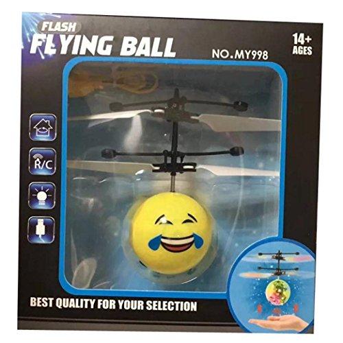 RC Fliegender Ball, Gusspower Infrarot Induktion Hand Mini Fliegen Emoji Drone Flugzeug Hubschrauber, Elektrische Micro Flugzeuge Geschenk für Kinder Spielzeug (D)