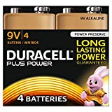 Duracell Plus Power Alkaline 9V non-rechargeable battery - Non-Rechargeable Batteries (Alkaline, Prismatic, 9 V, 4 pc(s), 9V, Black, Copper)