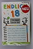 Sheepworld - 55470 - Stanzkarte, Klappkarte Nr. 31, Geburtstag, mit Umschlag, Endlich 18