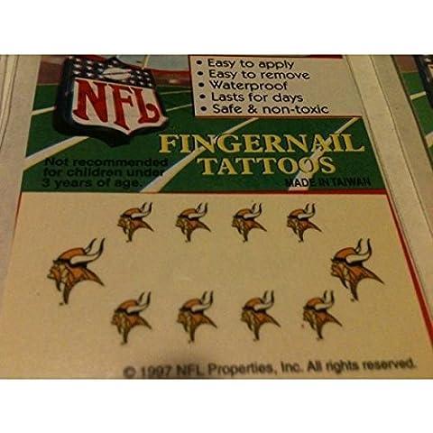 NEW NFL MINNESOTA VIKINGS NAIL TEMPERARY TATTOO