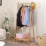 Panet Garderobenständer des faltenden Garderoben-Massivholzschlafzimmer-Bodenhakens kreativer europäischer hölzerner Kleiderständer