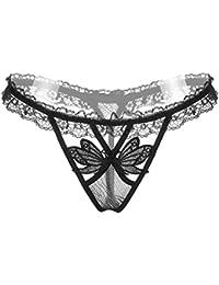 Lace Thong Panties Womens mariposa ropa interior transparente tanga bikini G-string