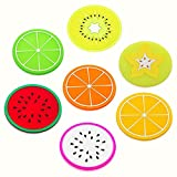 Gespout Salvamanteles para teteras Posavasos de Silicona Calor Resistente para Bowl de Platos Cubiertos Posavasos de Vino Antideslizante Cocina Comedor Cena Barbacoa Boda Posavasos Fruta 7pcs