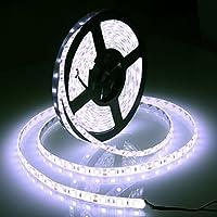 Gledto Striscia LED Bianco Freddo Impermeabile IP65 5M 300 LED 5050 SMD LED Strip per Giardini Casa Matrimonio Festa di Natale