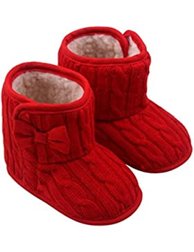 warme Schuhe Baby Bowknot weiche Sohle Winter Stiefel Luckygirls