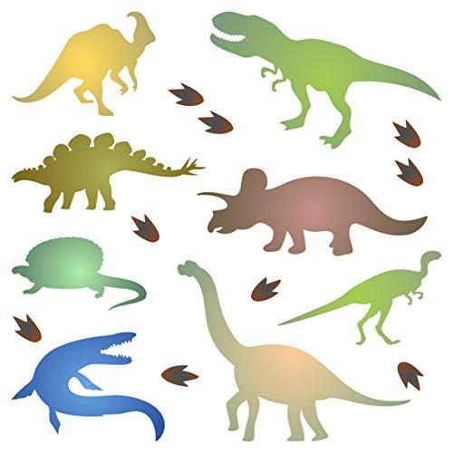 Schablone mit Dinosaurier-Silhouette - 11.5 x 11.5cm - S