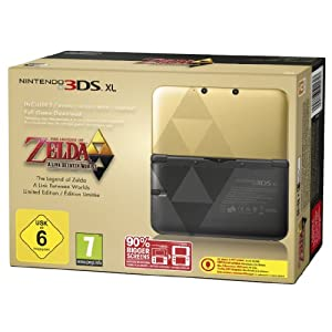 Nintendo 3DS XL – Konsole Gold/Schwarz Zelda-Bundle (Limited Edition)