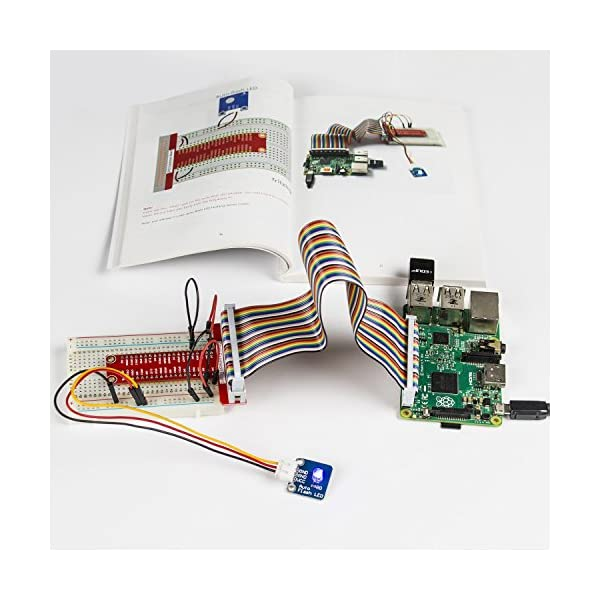 51E7nz85H7L. SS600  - SunFounder 37 Modules Sensor Kit V2.0 for Raspberry Pi 3, 2 and RPi Model B+, 40-Pin GPIO Extension Board Jump wires