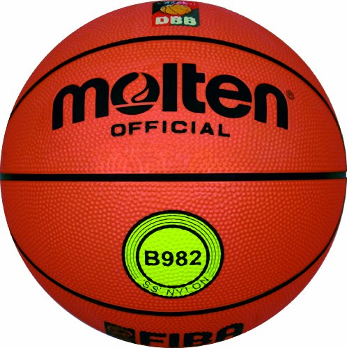 Molten Basketball, Orange, Größe 7, B982