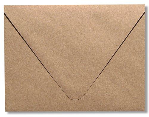 Contour Euro Klappe Kraft Lebensmittels Tasche braun 50Box A2-150g Briefumschläge (43/8x 53/4) perfekt für RSVP, Einladungen, Ankündigungen, Hochzeiten Note Karten von den Umschlag Galerie