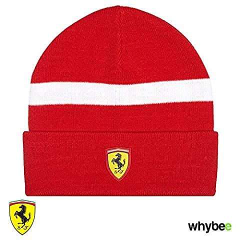 2017 Ferrari F1 Formula One Team Knitted Beanie Hat in Red - Adult One Size