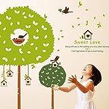 Wandtattoo Gartenbaum Wandaufkleber DIY Wandsticker Acryl Wandbild für Wohnzimmer Schlafzimmer Babyzimmer Kinderzimmer Wand Deko Aufkleber