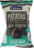 Patatas fritas Mediterranea sabor Ajo negro, elaboradas con agua de mar y aceite de oliva, bolsa de 130 gramos, extra crujientes