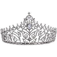 FENICAL Corona Nupcial con Diamantes para Novias Mujeres Niños para Boda Fiesta Banquetes Halloween