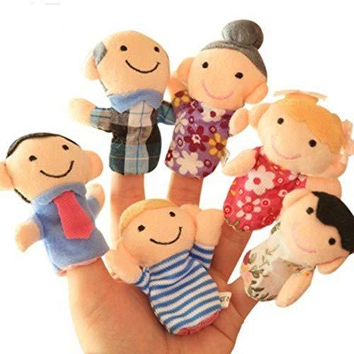 Biuday 6 Unids Juguete de Peluche para niños Juguete Interactivo Lindo de Dedo de Dibujos Animados Entre Padres e Hijos Marionetas de Dedos