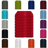 8 tlg. Handtuch-Set in vielen Farben - 8 Handtücher 50x100 cm - Farbe rot