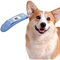 OneTwoThree - Termómetro clínico rápido para gato, perro y animal de oreja grande, mide la temperatura del oído de la mascota con precisión, modo de cuerpo y objeto (modo de baño, leche) disponible, C/F conmutable