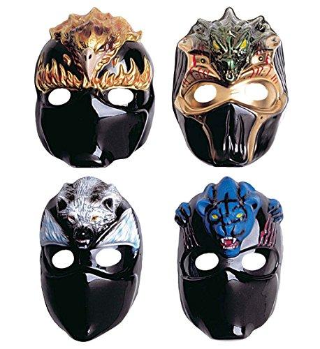 um Verkleiden für Karneval oder Motto-Party // Set Masks Verkleidung Kostüm Kinder Kindergeburtstag Geburtstag Fasching Adler Bär Drache Tiger (Tiger Ninja Kostüm)