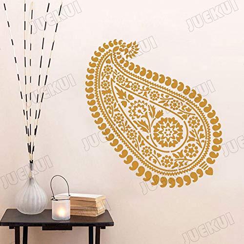 yaoxingfu Mandala Grandes Hojas de Grano extraíble Etiqueta de la Pared para Sala de Estar Dulce decoración para el hogar calcomanías de Vinilo Pegatinas Dormitorio Blanco 120X110 cm