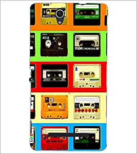 PrintDhaba Casettes D-4537 Back Case Cover for SONY XPERIA C3 (Multi-Coloured)