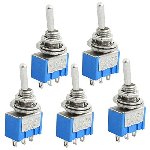 sourcingmap® 5 Stück 3 Terminals Mikroschalter SPDT On Off/On Kippschalter AC 250V 3A, 125 V, 6A DE de -