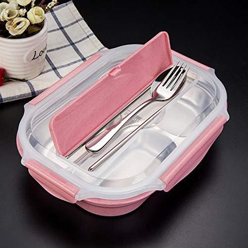 Bento Box Edelstahl Lunch Box_304 Edelstahl Lunch Box Shaped Snack Teller Outdoor Student Kreative Schnalle Isolierung Dichtungsring @ DREI Schicht Liner Zwei Löffel Löffel Stäbchen -