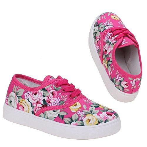 Mädchen Schuhe, K-23-1, HALBSCHUHE Pink Multi M