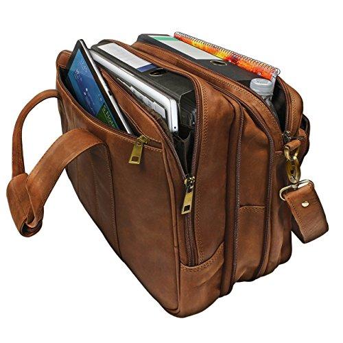 Stilord 39 leopold 39 grande borsa in pelle da insegnante for Borsa ufficio uomo