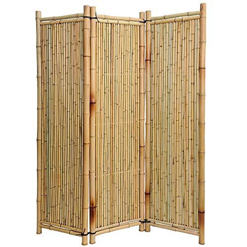 Noor Bambus-Paravent 180 x 180 cm 3teilig