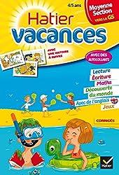 Cahier de vacances de la Moyenne section vers la Grande section