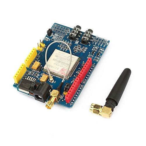 Peanutaod Langlebiges SIM900 850/900/1800 / 1900MHz GPRS/GSM-Entwicklungsboard-Modul mit Antenne und Statusanzeigen für SIMCOM at-Befehle Gprs-tv