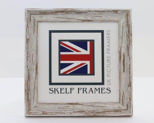Skelf Frames Löffel Walnuss Distressed Quadratisch Bild Foto Poster Rahmen mit Glas (33x 33cm) (Signatur-foto-rahmen)