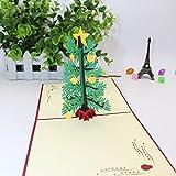 Amphia - Karten der Weihnachtskarten 3D Geburtstags-Dank-Gruß-Jahrestags-Karten,Frohe Weihnachten DIY 3D Stereo Grußkarte Postkarte