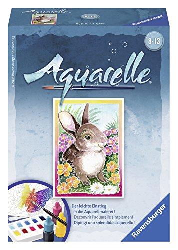 Ravensburger Aquarelle 29184 - Malsets, Häschen, Mini, 8,5 x 12 cm