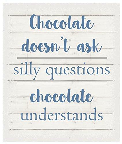 Lichterkette Company nicht fragen Silly Fragen. Schokolade versteht.-Weiß Hintergrund, zum Aufhängen 25,4x 30,5cm