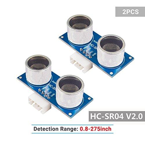SunFouder 2 pcs Ultrasonic Module HC-SR04 Distance Sensor for Arduino UNO MEGA...
